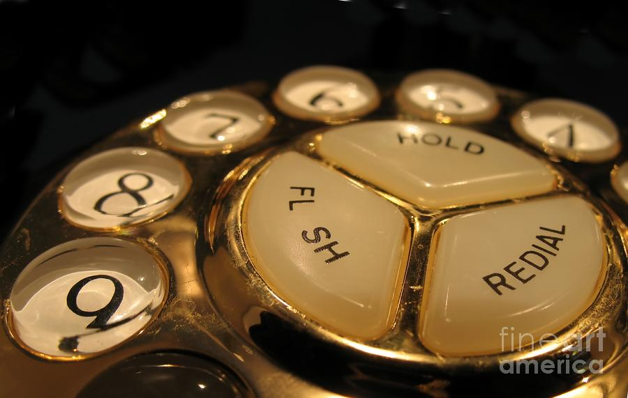 Vintage Rotary Dial Phone Photograph