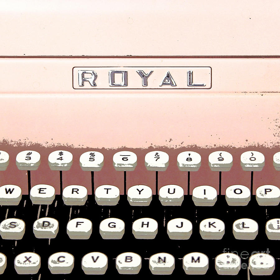 Vintage Royal Typewriter Painting  - Vintage Royal Typewriter Fine Art Print