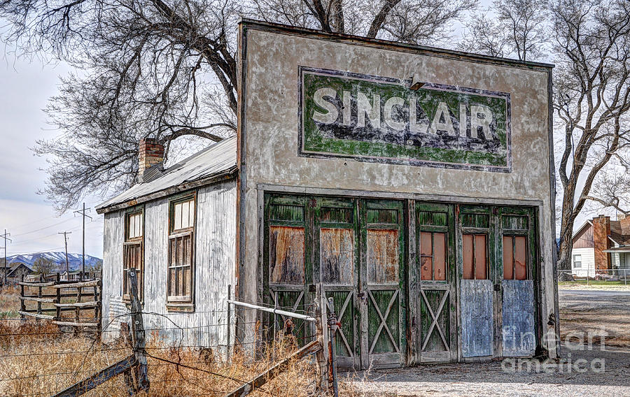 Vintage Rural Gas Station - Elberta Utah Photograph