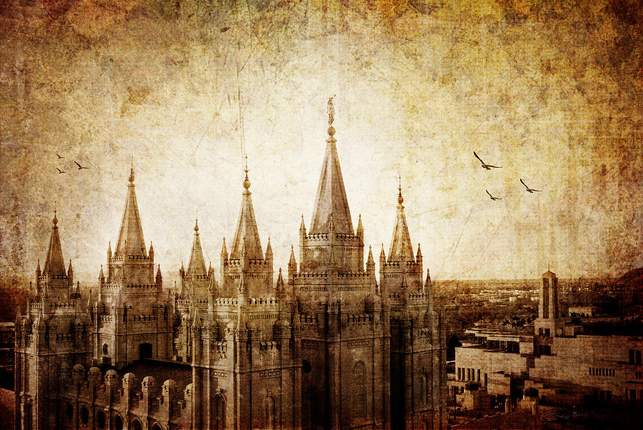 Vintage Slc Temple Photograph  - Vintage Slc Temple Fine Art Print