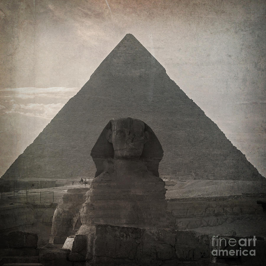 Africa Photograph - Vintage Sphinx by Jane Rix