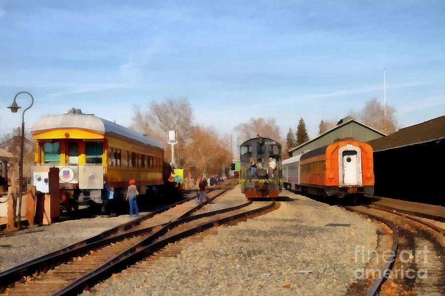 Vintage Trains At The Old Sacramento Train Depot . 7d11513 Photograph  - Vintage Trains At The Old Sacramento Train Depot . 7d11513 Fine Art Print