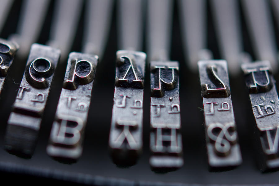 Vintage Typewriter Keys Photograph