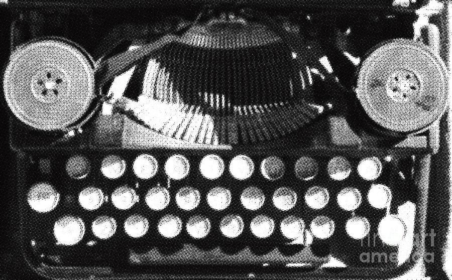 Vintage Typewriter Silk Screen Digital Art