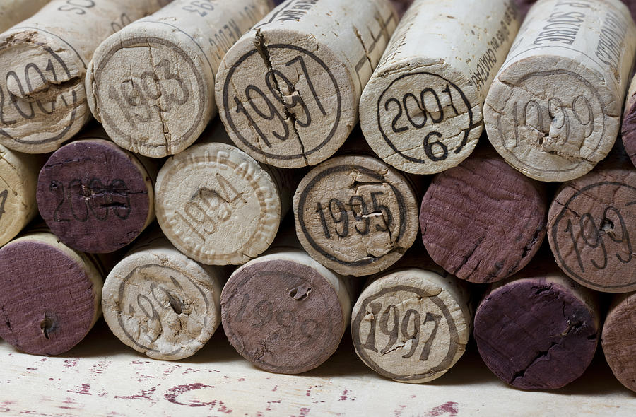 canvas art print vintage wine corks