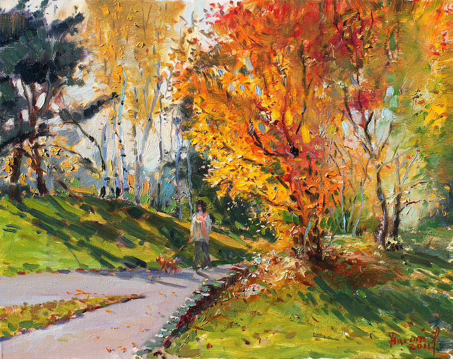 Viola In A Nice Autumn Day Painting By Ylli Haruni