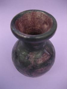 Violet And Black Vase Ceramic Art