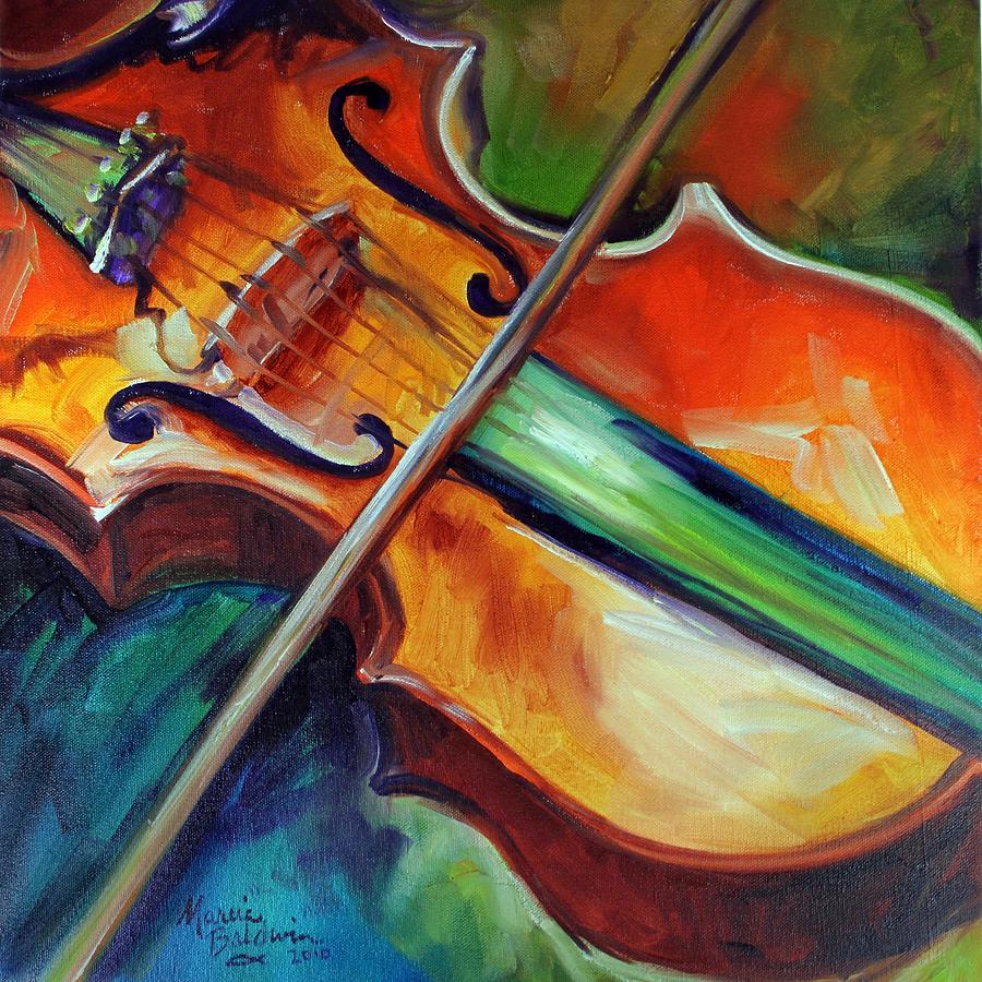Violin painting | Etsy