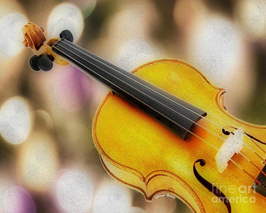 Violin Photograph - Violin by Cheryl Young