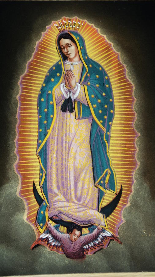 Virgen Painting  - Virgen Fine Art Print