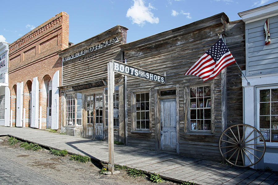 Virginia City Ghost Town - Montana Digital Art by Daniel Hagermanvirginia city town