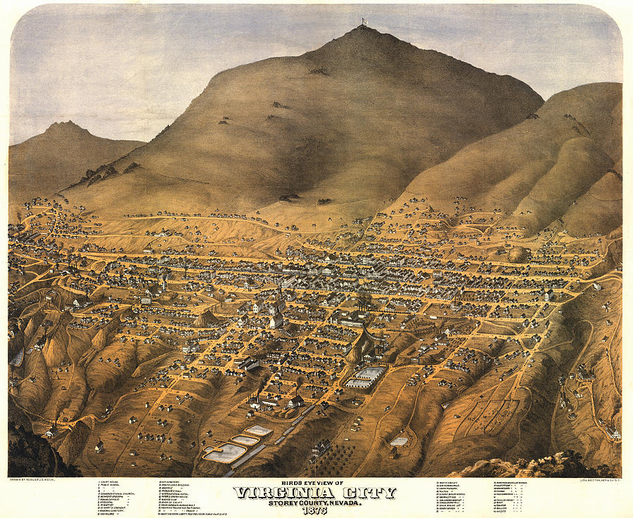 Virginia City Nevada 1875 Digital Art