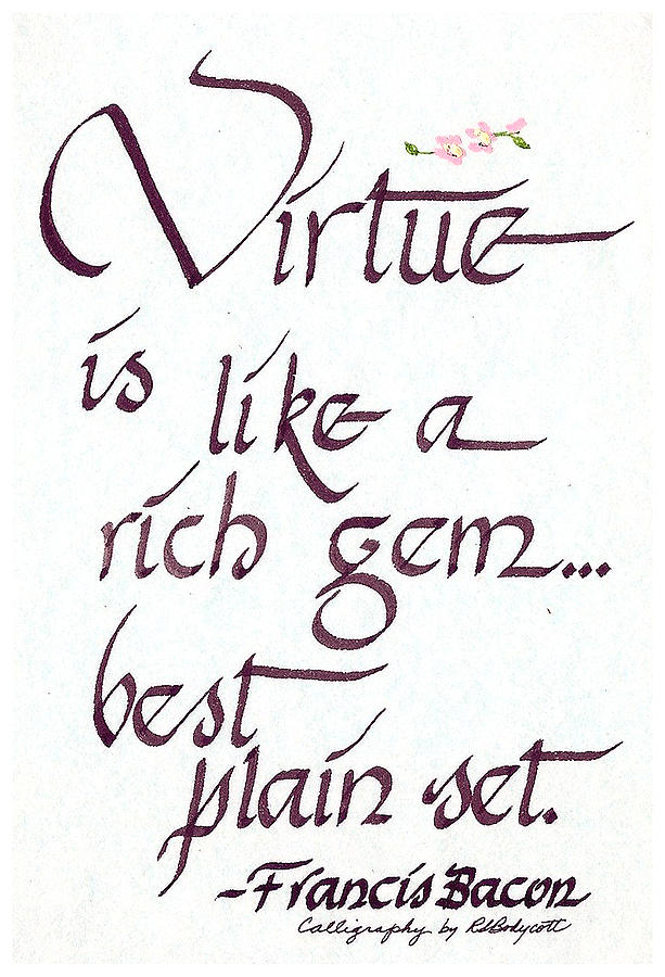 Virtue Painting  - Virtue Fine Art Print