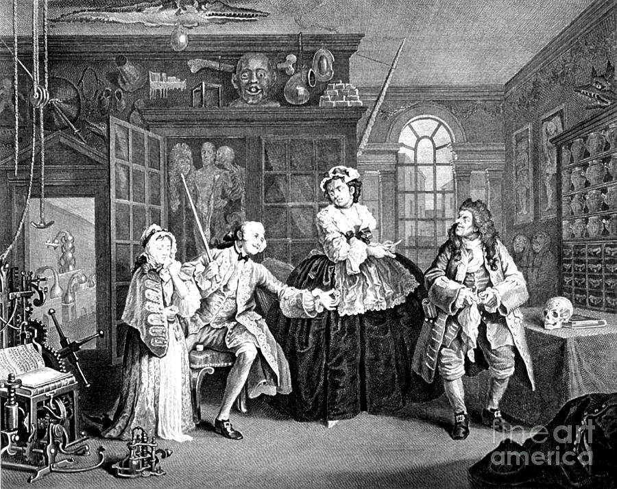 Visit To The Quack Doctor, 1745 Photograph