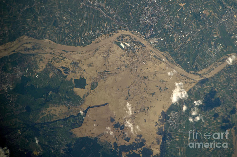 Aerial View Photograph - Vistula River Flooding, Southeastern by NASA/Science Source