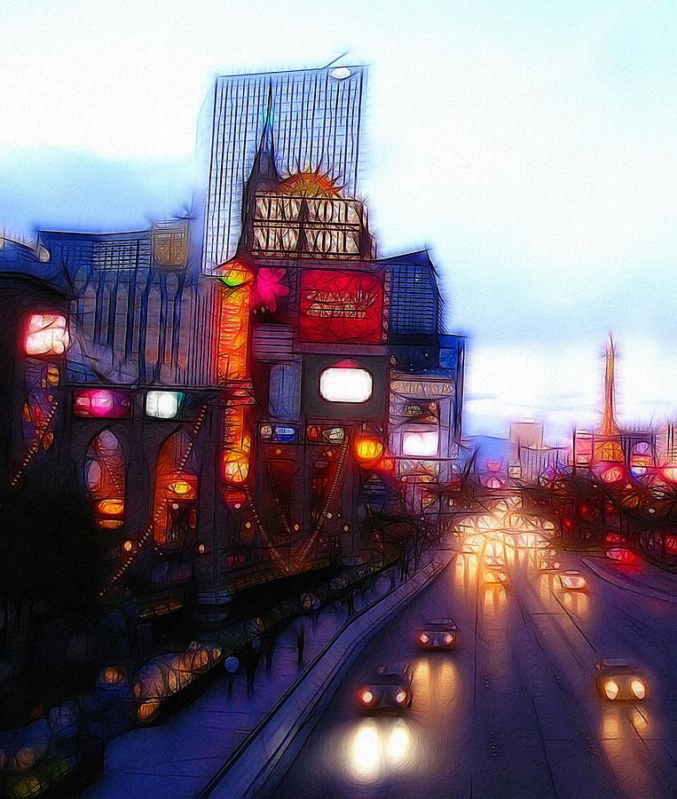 Viva Las Vegas Painting Digital Art