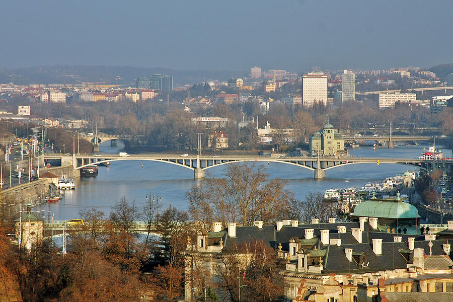Vltava River In Prague - Tricky Laziness Photograph