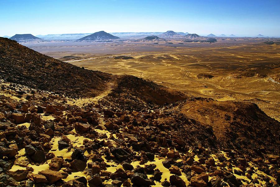 Volcanic Black Desert Pyrography