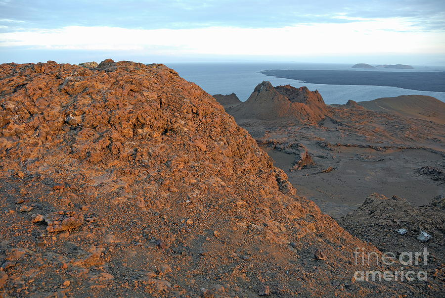 Volcanic Landscape At Sunset Photograph  - Volcanic Landscape At Sunset Fine Art Print