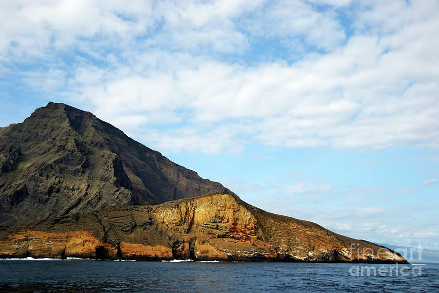 Volcanic Landscape By Coastline Photograph
