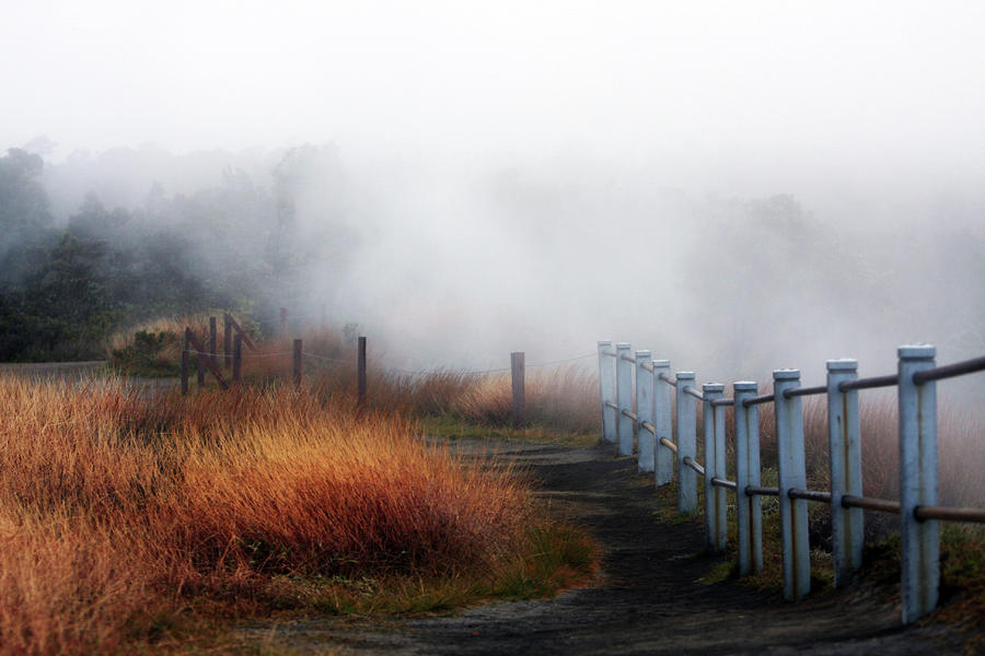 Volcano Fence Photograph