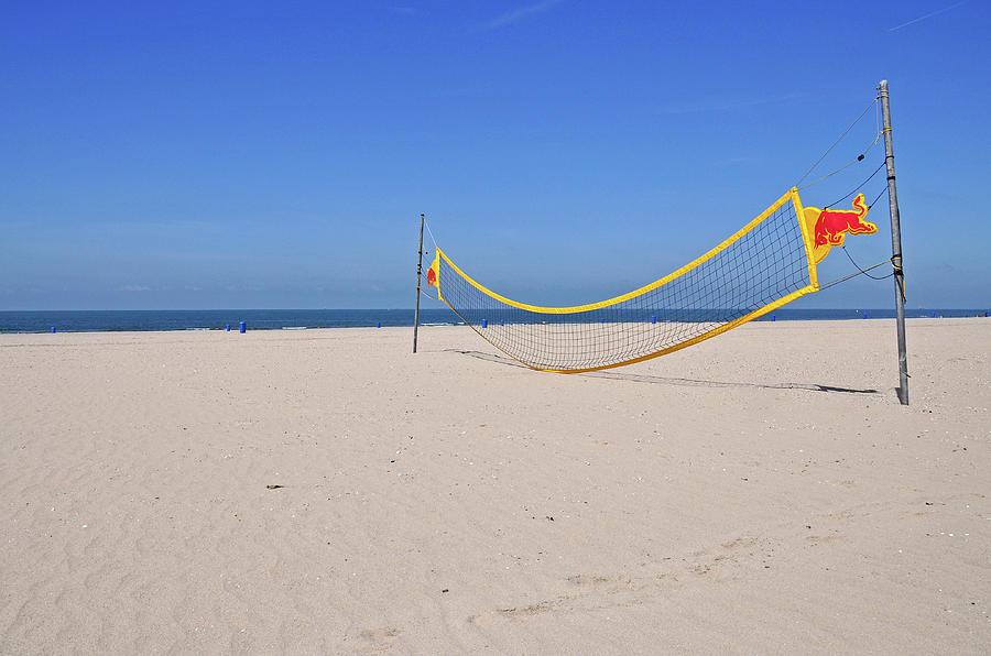 Volleyball Net On Beach Photograph
