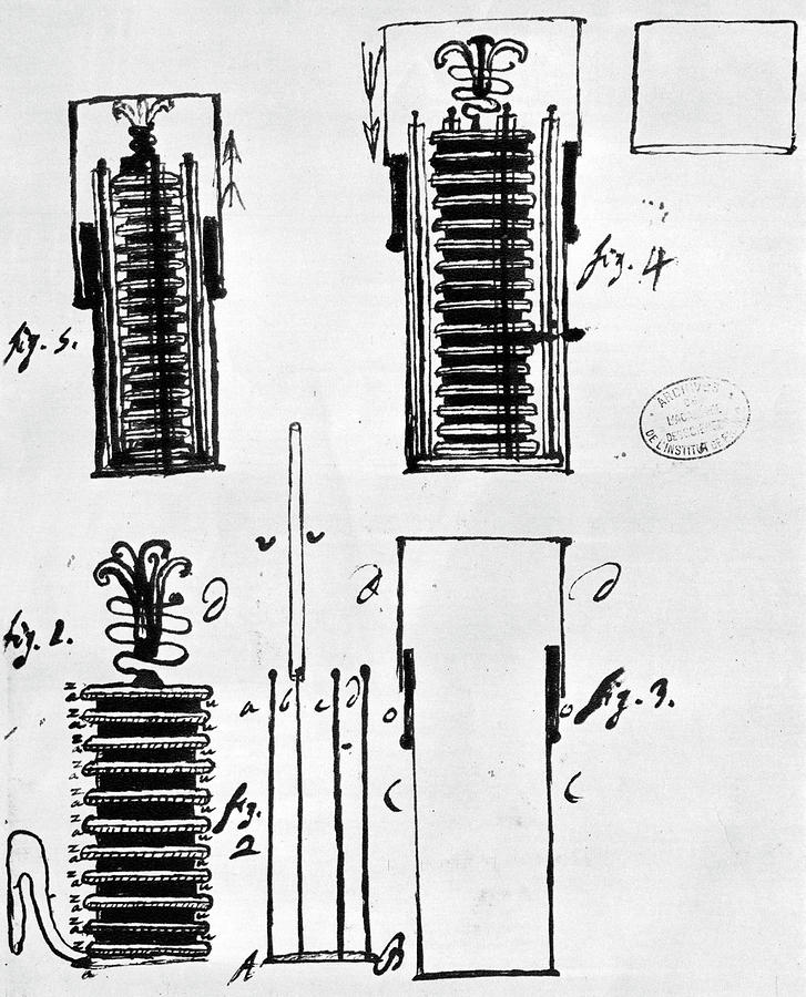 Voltaic Pile 1801 Drawing