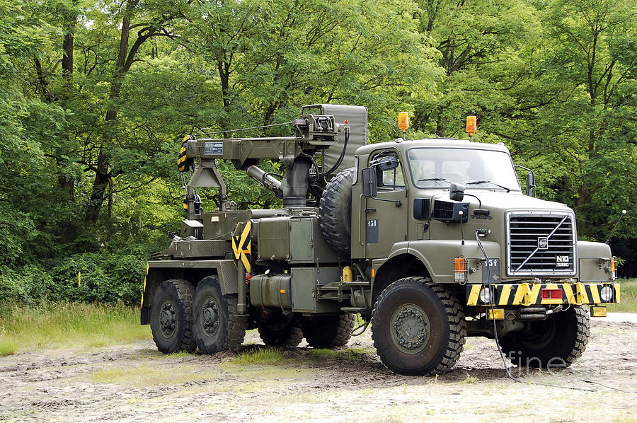Volvo N10 Truck Crane Of The Belgian Photograph