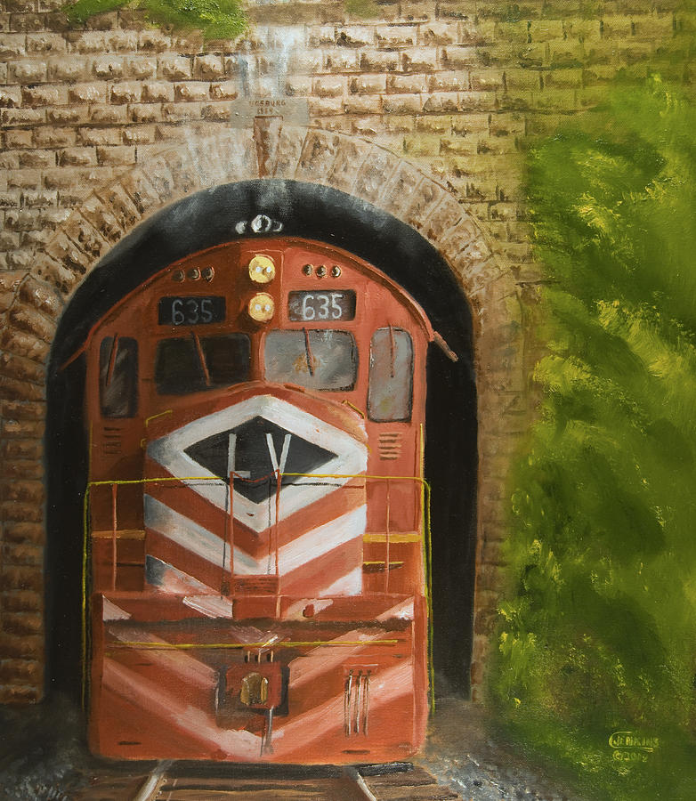 Vosburg Tunnel Painting  - Vosburg Tunnel Fine Art Print