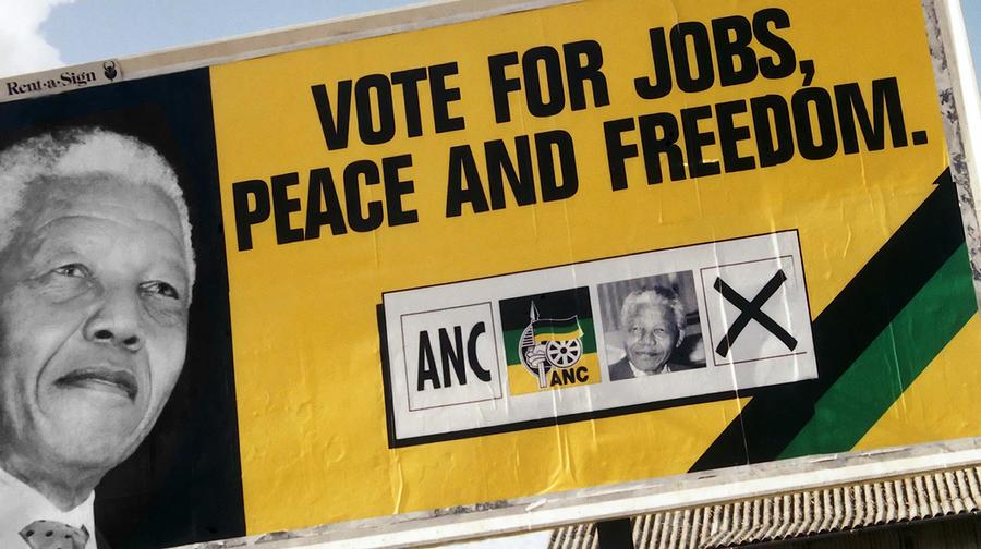 Vote Mandela Photograph By Andrew Hewett