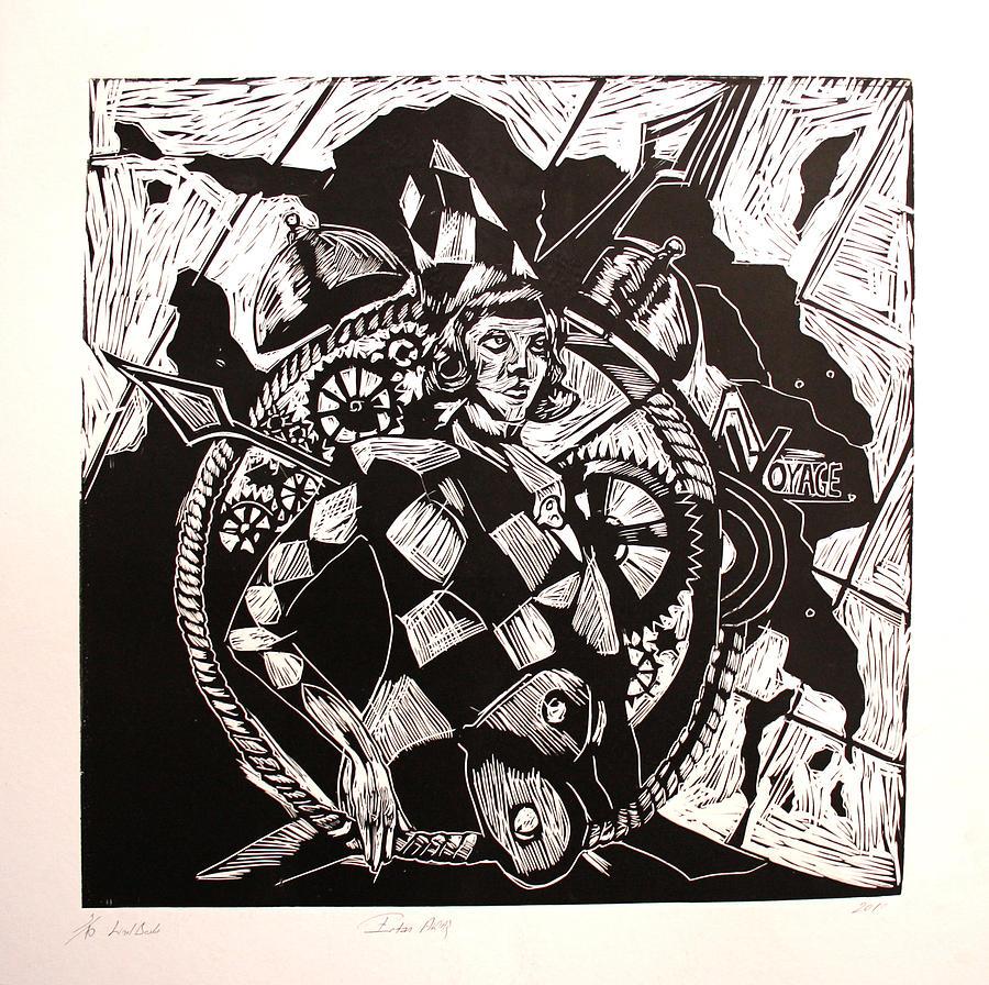 3/10 Lino Cut Painting - Voyage by Ertan Aktas