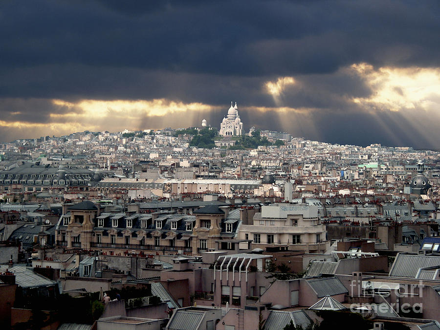 Vue De La Butte Montmartre.roofs Of Paris Photograph  - Vue De La Butte Montmartre.roofs Of Paris Fine Art Print