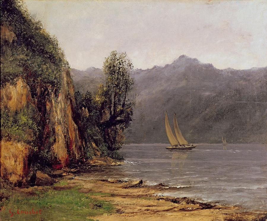 Vue Du Lac Leman Painting