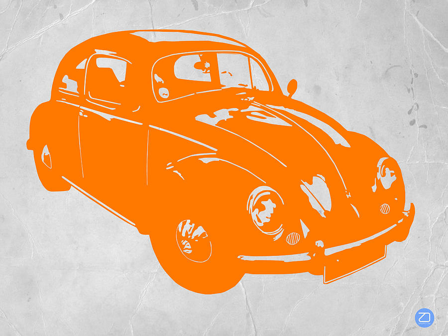Vw Beetle Orange Photograph  - Vw Beetle Orange Fine Art Print