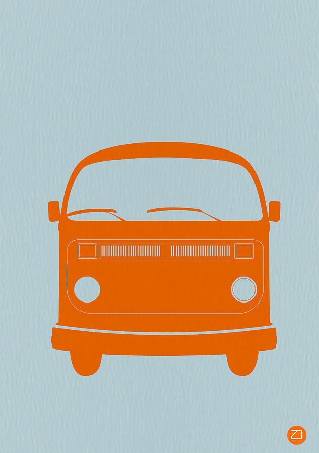 Vw Bus Orange Photograph