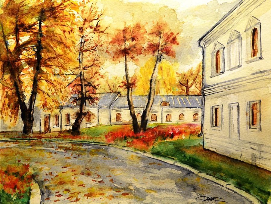 Watercolor Landscape Painting - W 19 Moscow by Dogan Soysal