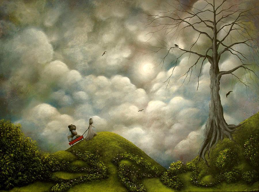 Wagon Trails Painting  - Wagon Trails Fine Art Print