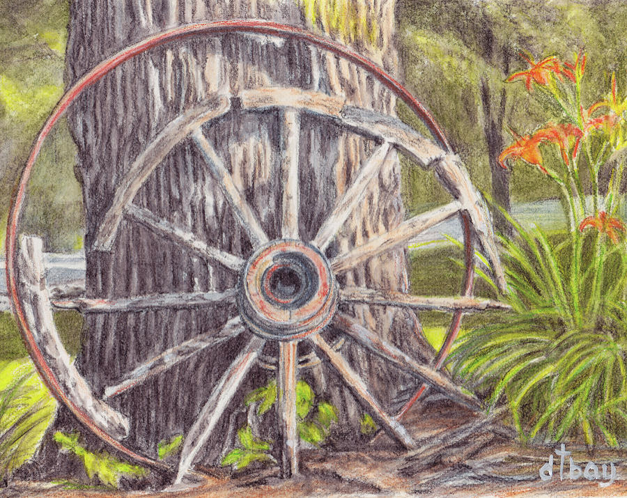 Old Wagon Wheel Drawing Pictures To Pin On Pinterest