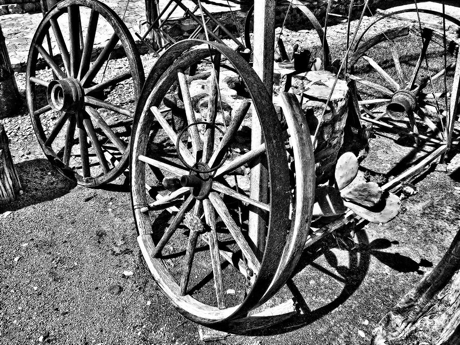 Wagon Wheel Graveyard Photograph