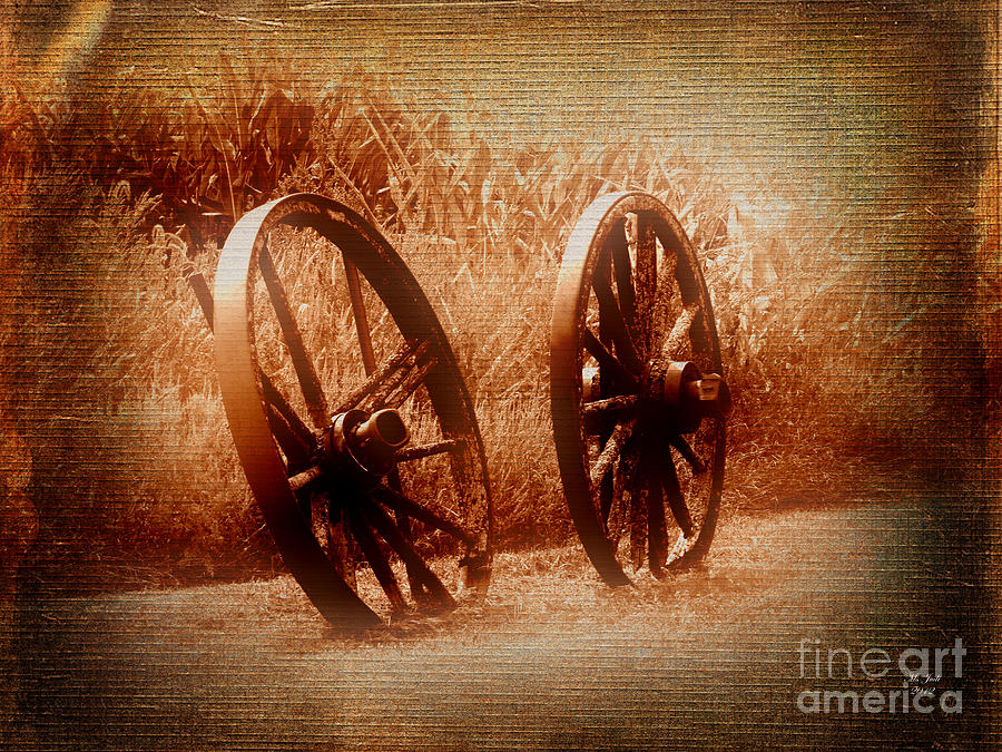 Wagon Photograph - Wagon Wheels by Ms Judi