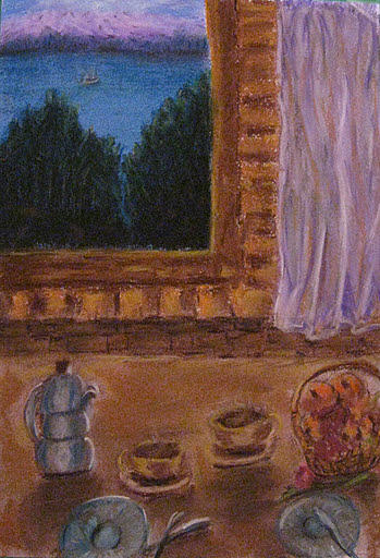 Interior Pastel - Waiting For A Friend  by Vida Barq