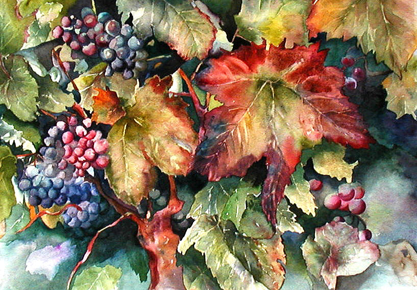 Waiting For Merlot Painting
