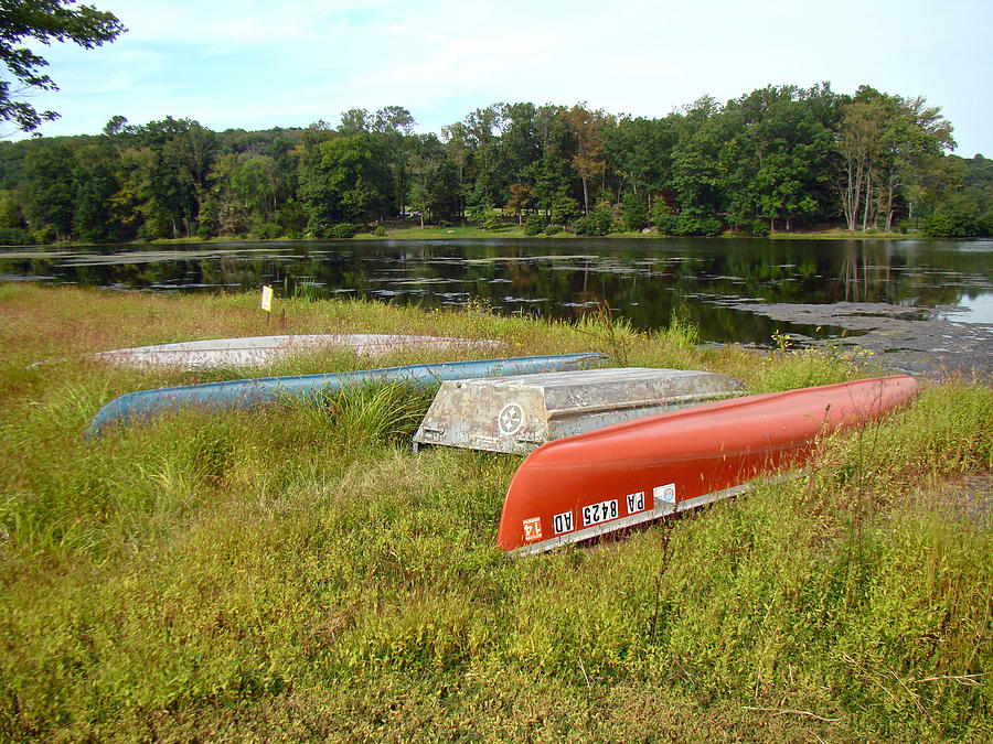 Boats Photograph - Waiting For One Last Summer Voyage by Mother Nature