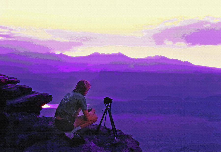 Waiting For The Sunrise - Dead Horse Point Utah Photograph