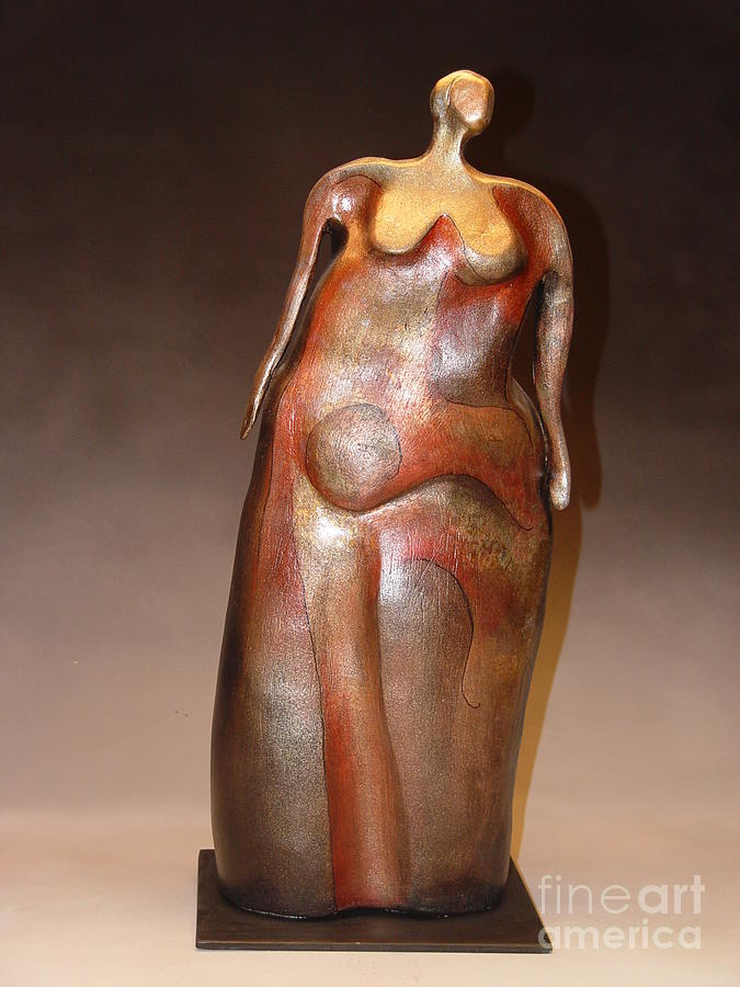 Abstracted Nude Sculpture - Waiting by Judith Birtman
