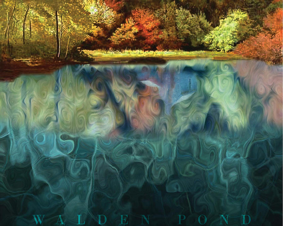 Walden Pond II Digital Art  - Walden Pond II Fine Art Print
