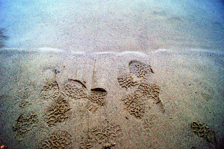 Walk In The Sand Photograph