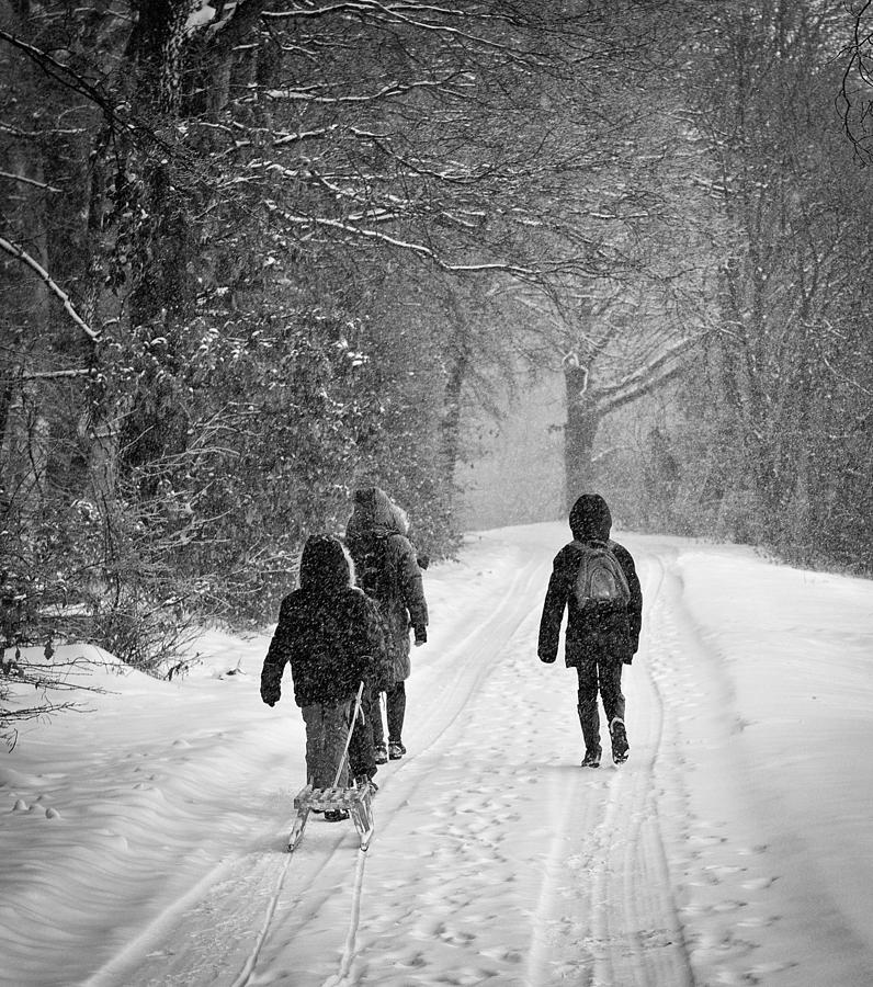 walking in the snow - photo #17