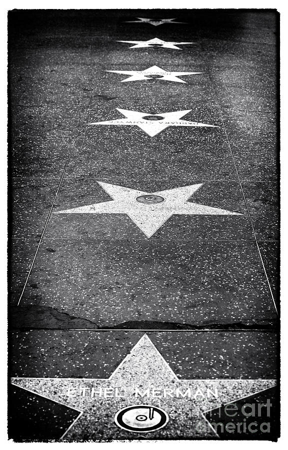 Walk Of Fame Photograph  - Walk Of Fame Fine Art Print