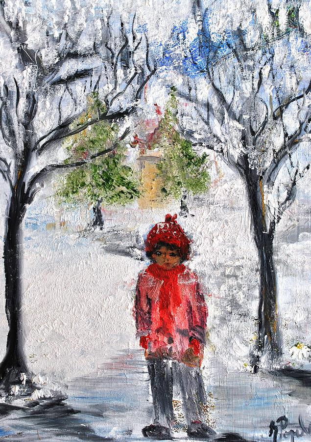 Walking Alone Painting  - Walking Alone Fine Art Print